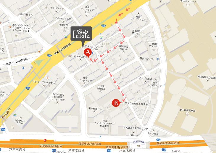 駐車場の地図